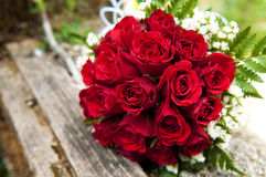 Bouquet of red roses. Shallow depth of field. Bouquet of fresh red roses Stock Images