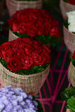 Bouquet red roses in the shop Stock Image
