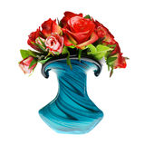 Bouquet of red roses in the vase Stock Photo