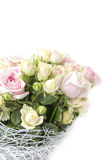 Bouquet of red roses. On a white background Royalty Free Stock Photos