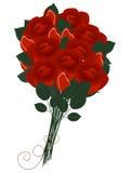 Bouquet of red roses. Bouquet of red roses on a white background Royalty Free Stock Image