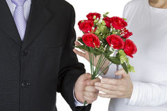 Bouquet of red roses for you Royalty Free Stock Image