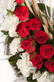 Bouquet of red and white rose flowers Royalty Free Stock Photography