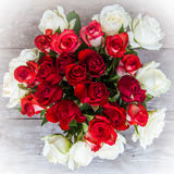 Bouquet. Red and white roses bouquet Stock Photography