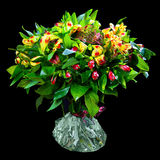 Bouquet of red and yellow alstroemeria Stock Photography