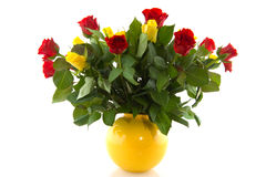 Bouquet red and yellow roses Stock Image