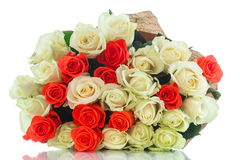 Bouquet of red and yellow roses Royalty Free Stock Photos