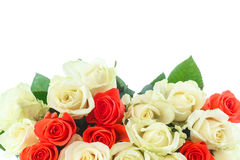 Bouquet of red and yellow roses Stock Photo