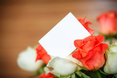 Bouquet of red and yellow roses Stock Images