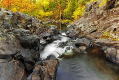 Bouquet River. In the Adirondacks during Autumn royalty free stock photography