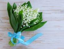 Bouquet romantique avec des lis de ressort de la vallée Images libres de droits