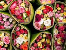 Bouquet Rose. Asia; background; beautiful; beauty; bloom; blossom; bouquet; bright; color; colorful; colourful; decoration; detail; flora; floral; flourish Royalty Free Stock Image