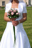 Bouquet rose. Bride Holding Bouquet from rose stock images