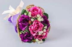 Bouquet rose artificiel Images stock