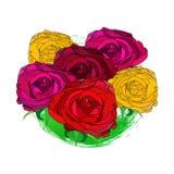 Bouquet rose décrit Photographie stock