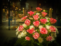 Bouquet Rose and Daisy in night shot Royalty Free Stock Photos