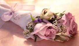 Bouquet rose de rose Photos stock
