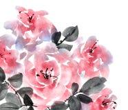 Bouquet rose de roses Images stock