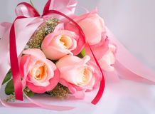 Bouquet of rose flowers. Beautiful bouquet of pink rose flowers Stock Photos