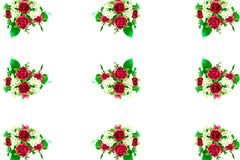 Bouquet of rose. Many bouquet of rose on white background Stock Photography