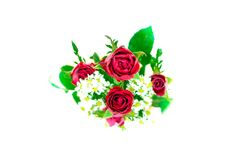 Bouquet of rose. Many bouquet of rose on white background Royalty Free Stock Photography