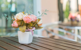 Bouquet rose on table. Bouquet rose on the table Stock Photos