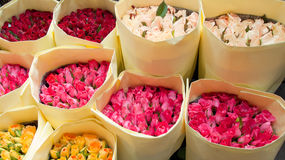 Bouquet of roses. At the market Royalty Free Stock Image
