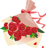 A bouquet of roses. Illustration of  a bouquet of roses Stock Images