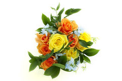 Bouquet of roses. Bouquet of yellow and orange roses Stock Photo