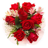 Bouquet of roses. On white background Stock Photo