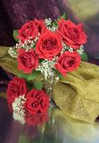 Bouquet with roses. Bouquet with red roses in a vase Royalty Free Stock Image