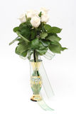 Bouquet of roses. Bouquet of beige roses in a vase Royalty Free Stock Photo
