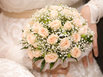 Bouquet of roses. An image of a bride holding her bouquet of roses Royalty Free Stock Photos