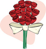 Bouquet of Roses. Vector of stylized bouquet of red roses isolated Stock Photo