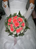 Bouquet of roses. In the hands of the bride royalty free stock images