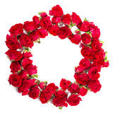 Bouquet of roses arranged to form a ring or design element for floral themes.  Stock Photos