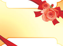 Bouquet of roses. Background for festive card. Illustration Royalty Free Stock Image