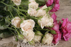 Bouquet of roses. Beautiful bouquet of pink and white roses Stock Image