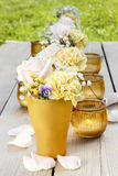 Bouquet of roses, carnations and pansy flowers Royalty Free Stock Photos