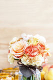 Bouquet of roses and carnations Royalty Free Stock Photography