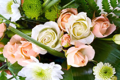 Bouquet of roses and chrysanthemums Royalty Free Stock Images