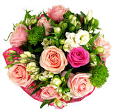 Bouquet of roses and chrysanthemums Stock Photography