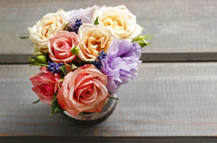 Bouquet of roses, copy space Stock Images