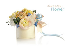 Bouquet of roses and cornflowers Stock Images