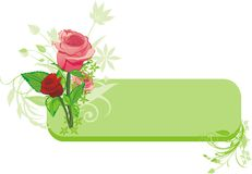 Bouquet of roses. Decorative banner Royalty Free Stock Image