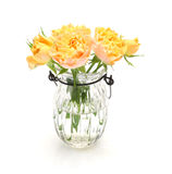 Bouquet of roses in a glass bottle Royalty Free Stock Image