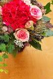 Bouquet roses hortensias copy space Stock Photo