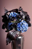 Bouquet of roses and hydrangea in a vase Stock Images