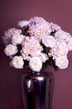 Bouquet of roses and hydrangea in a vase Royalty Free Stock Photo