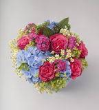 Bouquet of roses, hydrangeas and wildflowers Royalty Free Stock Photography